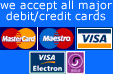blackpool rocks accept all major credit  or debit cards